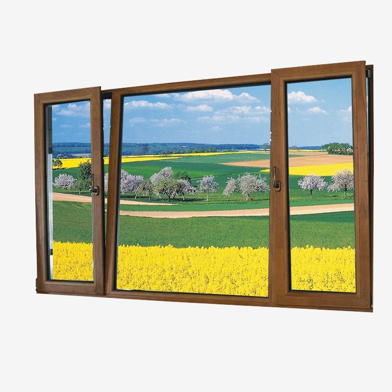 铝木复合下悬内开窗