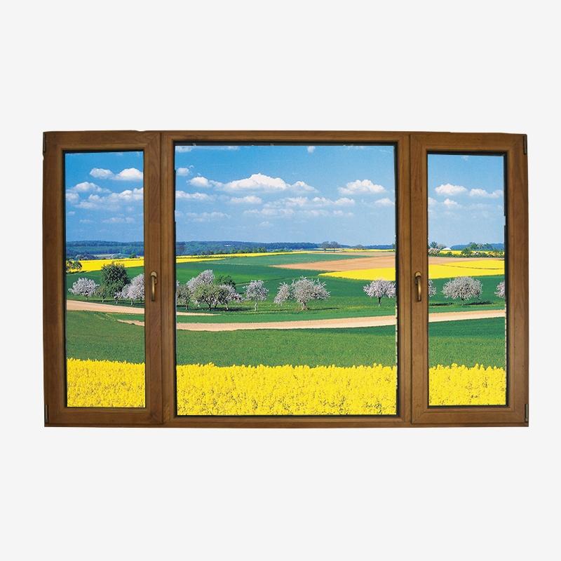 铝木复合上悬外开窗